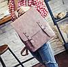 Стильный портфель для девушек розовый