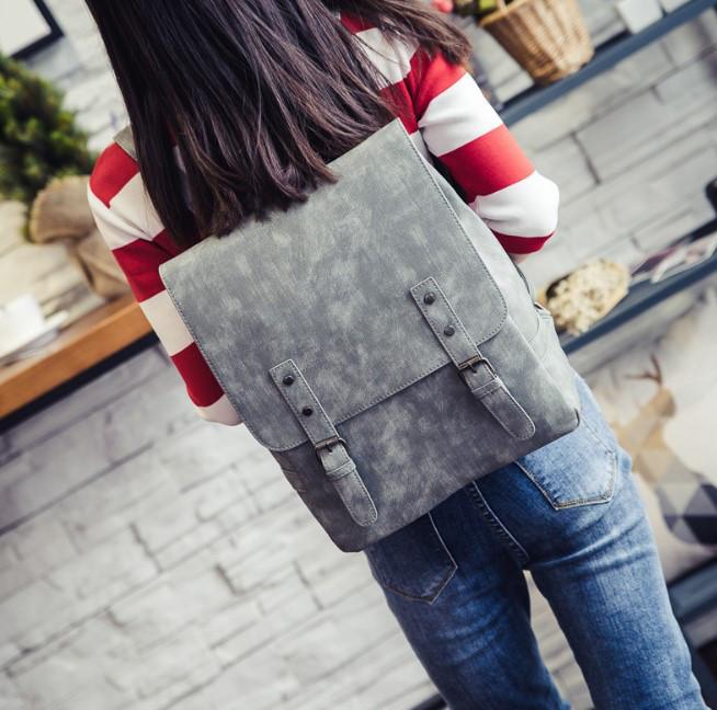Стильный портфель для девушек серый