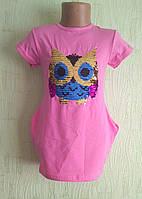 Туника -Платье для девочки  ,пайетки перевертыши, , фото 1