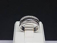 Срібне кільце з фіанітами. Артикул 19080р 16,5, фото 1