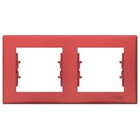 Рамка 2-местная Красный Sedna Schneider, SDN5800341