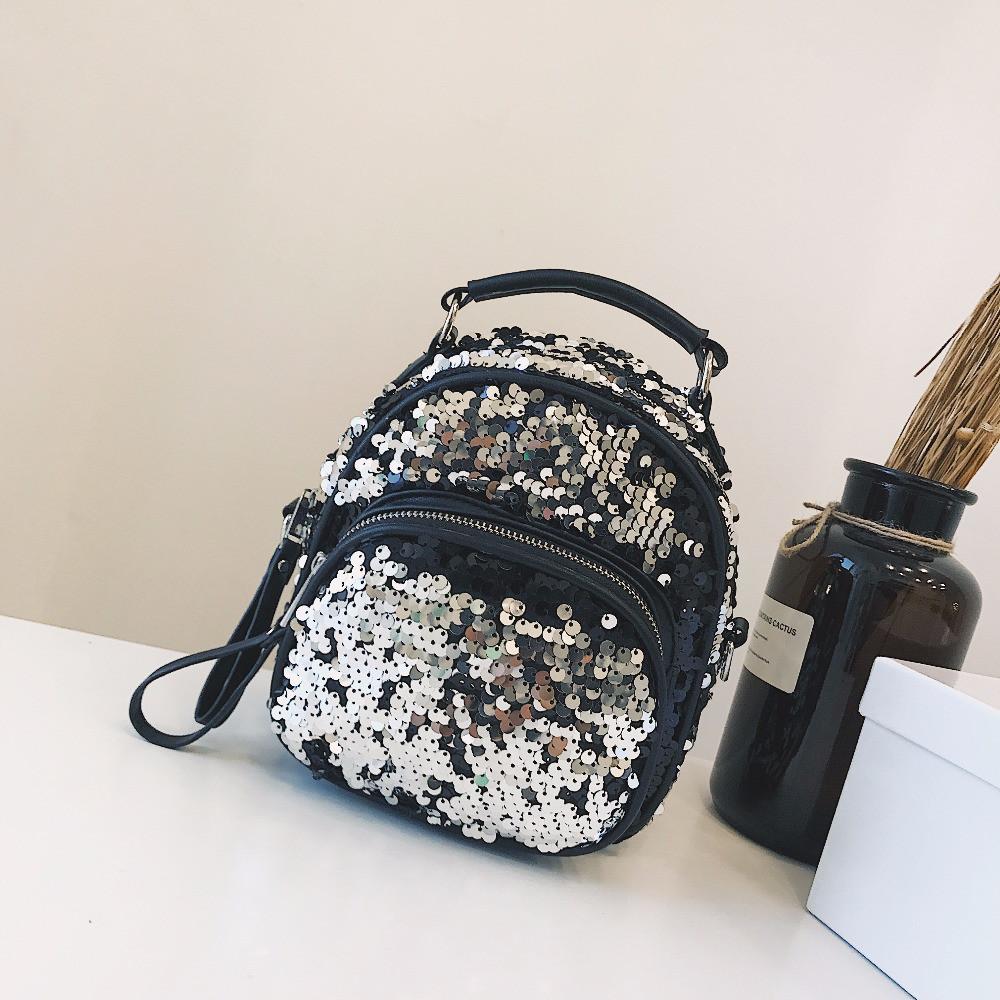 Маленький рюкзак с пайетками хамелеон