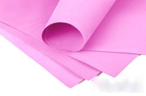 Фоамиран 3мм - листовой (1000*1500мм) розовый, фото 2