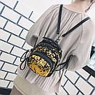 Маленький рюкзак с пайетками хамелеон, фото 9