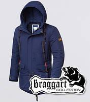 Мужская осенняя парка Braggart 1842 синяя-хаки