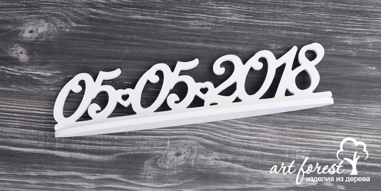 Свадебная дата на подставке