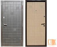 """Входная дверь в квартиру """"Каскад двухцветный"""" серии """"Оптима плюс"""" (венге/венге светлый), фото 1"""