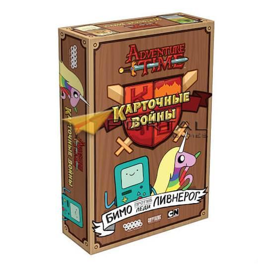 Настольная игра Время приключений: Карточные войны. Бимо против леди Ливнерог