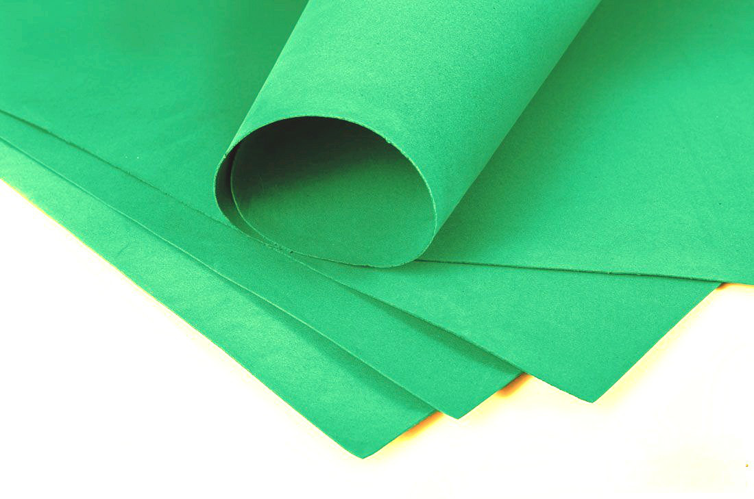 Фоамиран 3мм - листовой (1000*1500мм) зеленый