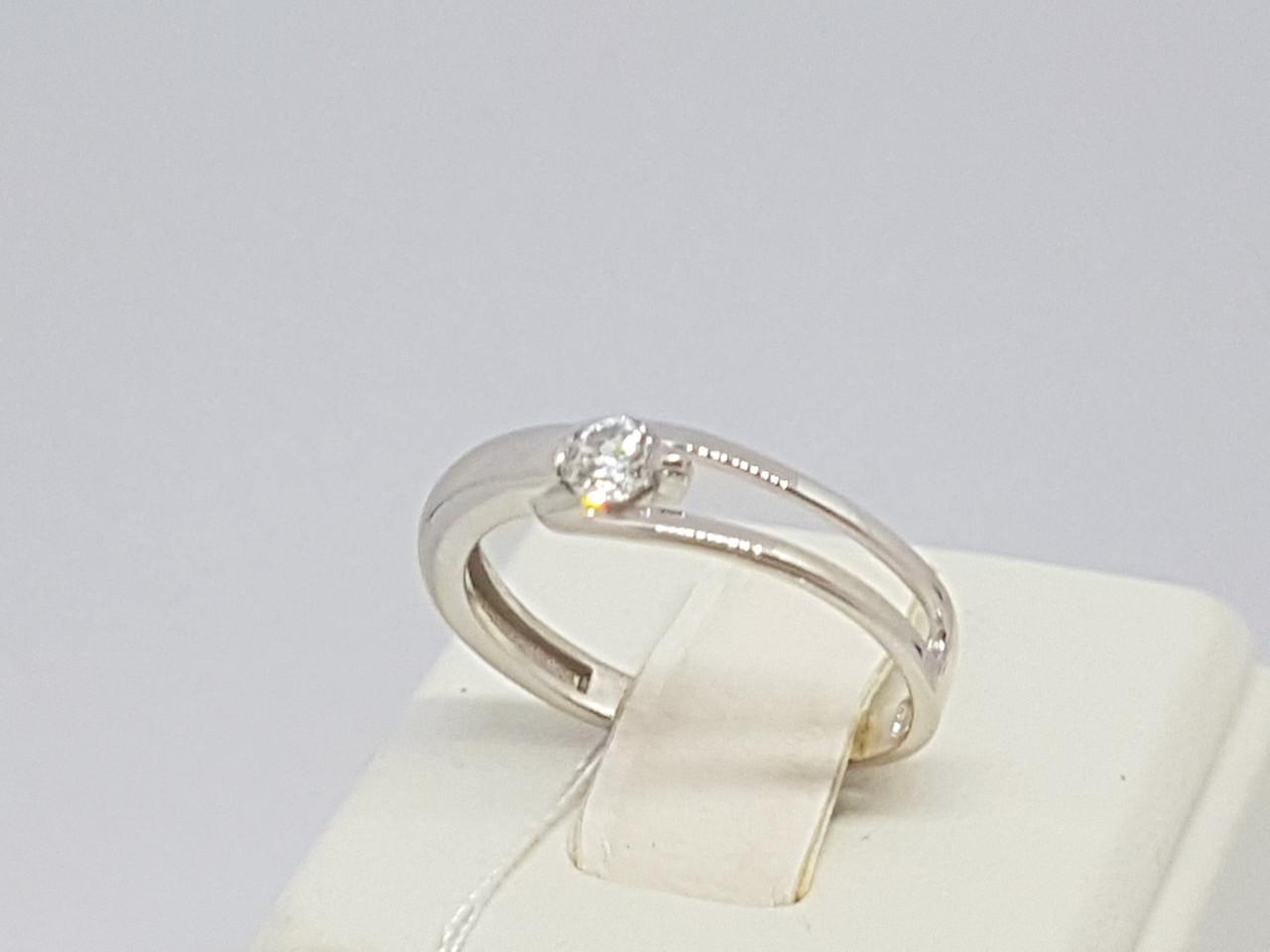 Серебряное кольцо с фианитом. Артикул 19028р