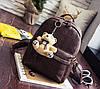 Стильный портфель женский коричневый