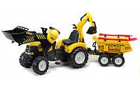 Трактор з причепом і двома ковшами Falk 1000WH