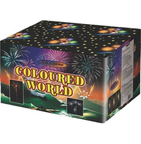 Фейерверк \ Салютная установка COLOURED WORLD Цветной Мир Калибр 30 мм \ 120 выстрелов GWM 6121