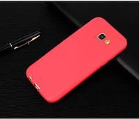 Чехол Бампер Style для Samsung Galaxy A7 2017 / A720 силиконовый красный