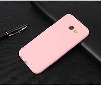 Чехол Style для Samsung Galaxy A7 2017 / A720 Бампер силиконовый розовый