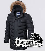 Куртка зимняя с мехом Braggart 4277 графит