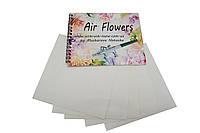 "Трафареты-наклейки для nail-art ""Воздушные цветы""+альбом для трафаретов"