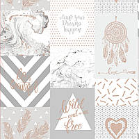 Wild and free grey rosegold