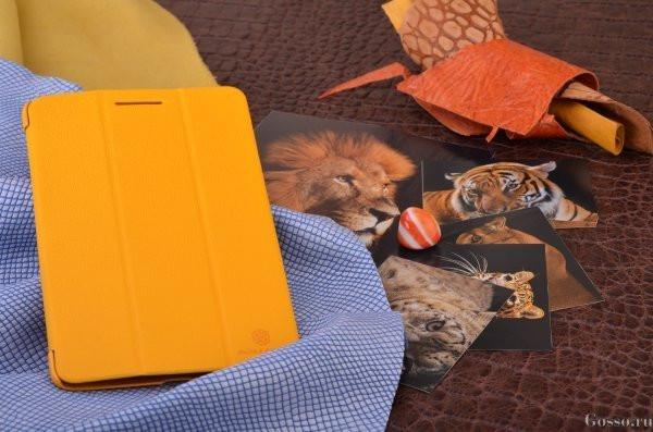 Чехол-книжка для Uni Pad 10 yellow режим подставки