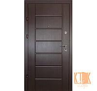 """Входная дверь в квартиру """"Канзас 2 цвета"""" серии """"Премиум"""" (венге/белый антик)"""