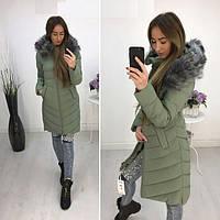 Стильная женская куртка с меховым воротником весна