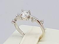 Серебряное кольцо с фианитами. Артикул 11001р 15,5, фото 1