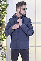 """Мужская демисезонная куртка на синтепоне """"CONTINENT"""" с карманами и капюшоном"""