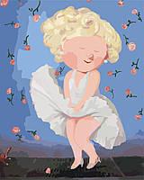 Картина по номерам Мерлин Монро Гапчинская (KNG008) 40 х 50 см