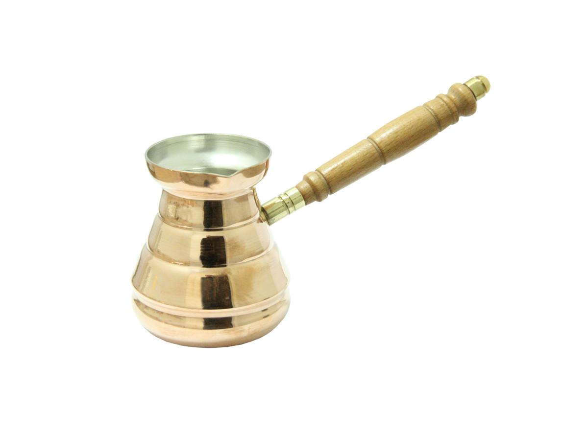 Цельнокатанная медная турка Кольцо, 250 мл ( джезва для кофе )