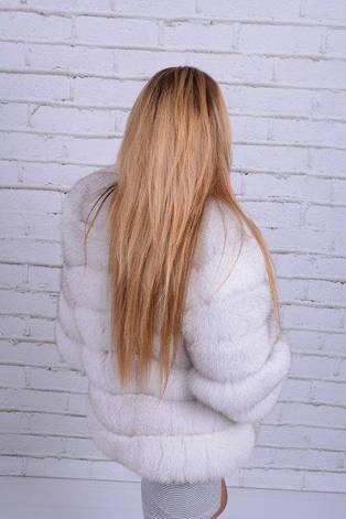Шуба из песца финского белая вуаль IF 001, фото 2