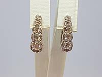 Серебряные серьги с фианитами. Артикул 25100р, фото 1