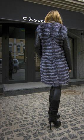 Шуба из натурального меха чернобурки IF 034 , фото 2
