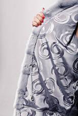 Красивая шуба из натурального меха норки белая IF 037, фото 2