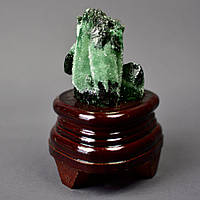 """Сувенир """"Ирландский мох"""" натуральный камень на подставке H-8см (с подставкой)"""