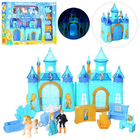 Замок принцессы 16-22см карета, мебель, фигурки, музыка, свет, CB688-6F
