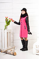Пальто демисезонное из кашемира для девочки подростка К-120