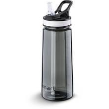 Бутылка спортивная с хладагентом Lamart - STRAW (LT4033) 0,65 л, тритан/пластик, черный