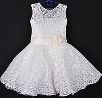 """Платье нарядное детское гипюровое """"Камила"""". 6 лет. Молочное. Оптом и в розницу, фото 1"""