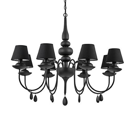Люстра Ideal Lux Blanche SP6 Nero (111872)