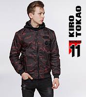 Мужской бомбер весенне-осенний Kiro Tokao - 362 черный-красный