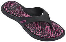Оригинал Вьетнамки женские 82212-20805 Rider Island IX Black/Pink Черно-Розовые