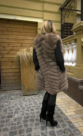 Жилет из финского песца длинный IF 090, фото 2