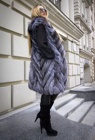 Жилет из натурального меха чернобурки IF 097, фото 2