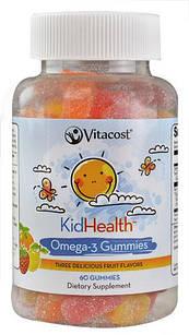 Vitacost KidHealth Omega-3 Gummies for Kids  60 шт детская жевательная