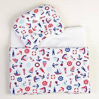 Постельное белье в детскую колыбель BabySoon три предмета Морячок, фото 1