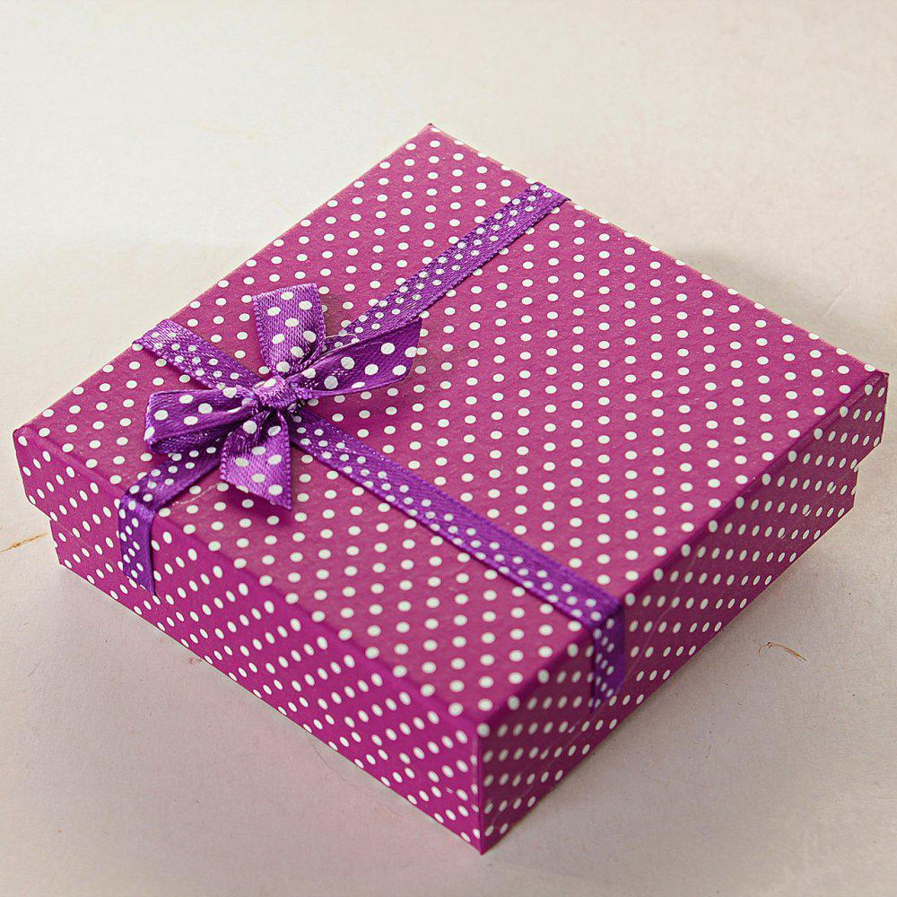 Подарочная коробочка для украшений Мелкий Горошек средняя 12 шт. [9/9/3 см]