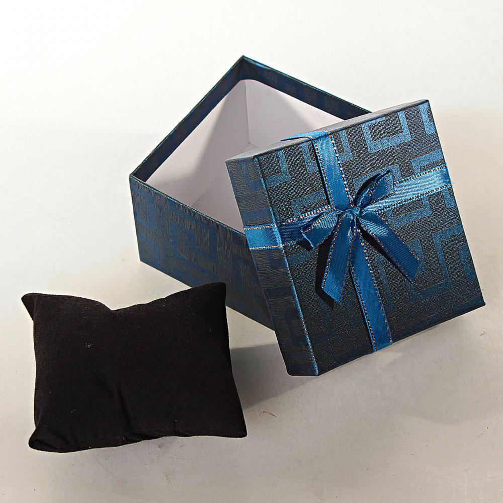 Подарочная коробочка для украшений с подушечкой Цветные большая 6 шт. [9/9/6 см]