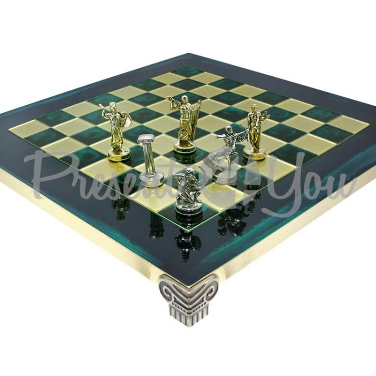 Шахматы «Римляне», зеленые, 36х36 см (088-0501S)