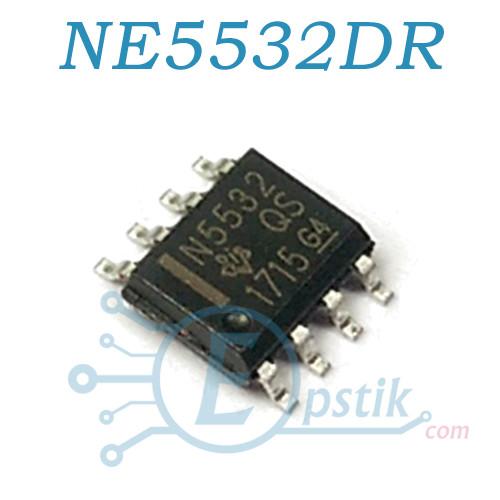 NE5532DR, Операционный усилитель, 10МГц, ±15В, 9В/мкс, SOP8