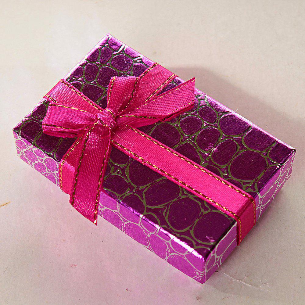 Подарочная коробочка для для сережек и колец прямоугольная Змея средняя 24 шт. [8/5/3 см]